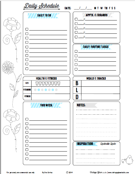 photograph about Free Printable Daily to Do List named day by day todo checklist -