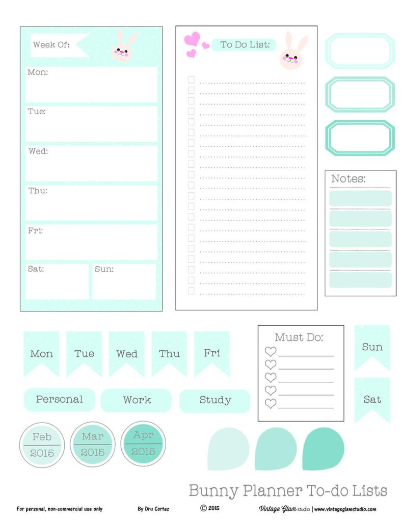 Free printable to-do list, for personal use only