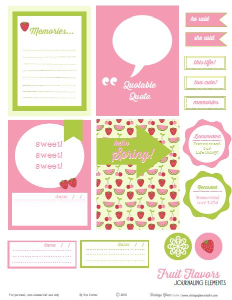 journaling cards, journaling elements printable