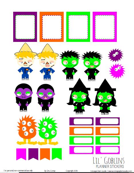 Lil Goblins | planner printable