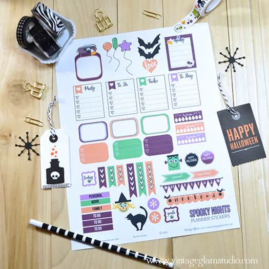Spooky Nights | planner stickers printable