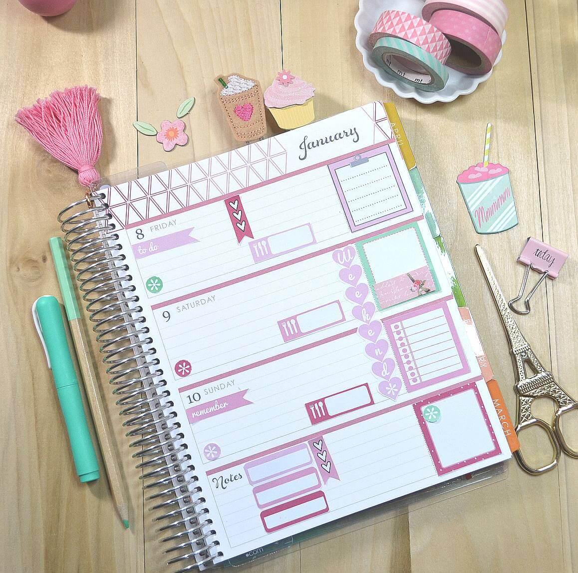 planner stickers layout - Erin Condren