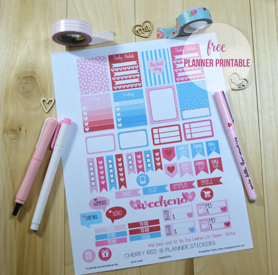 planner stickers print sample