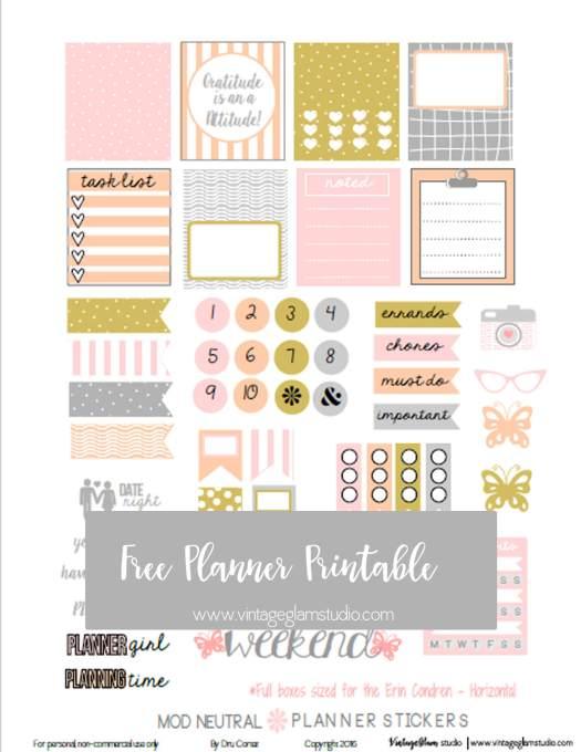Mod Neutral   Free planner stickers print