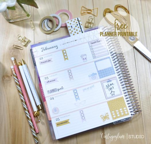 planner stickers layout