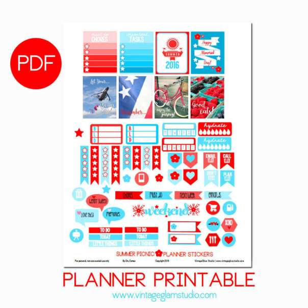 Summer Picnic Planner Printable | Free printable, for personal use only