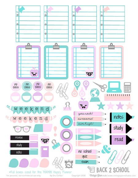 Free printable for the Happy Planner