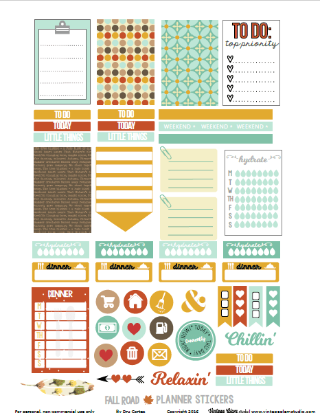 planner stickers printable preview