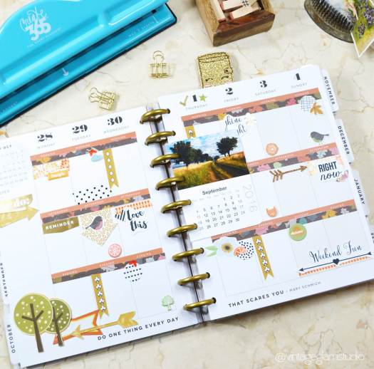 fall planner stickers layout