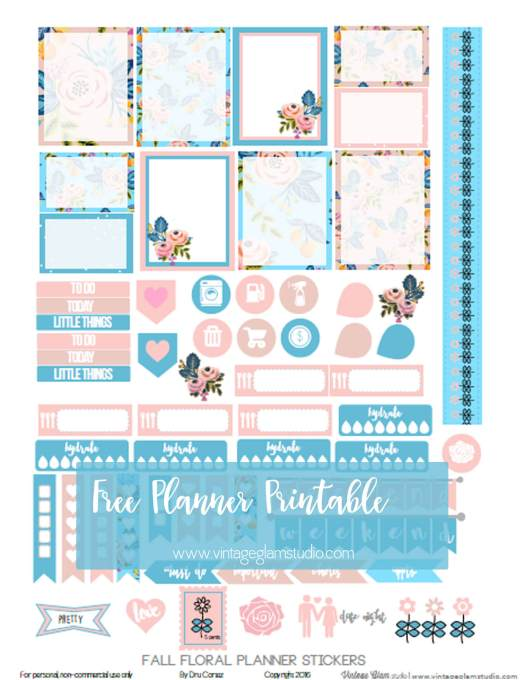 Fall Floral printable preview