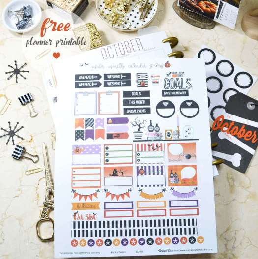 planner stickers printable, print sample