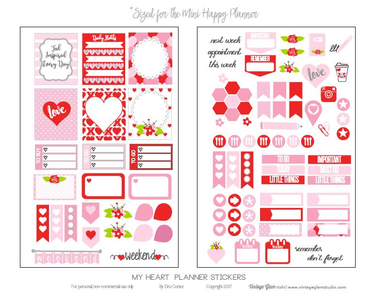 mini happy planner stickers printable