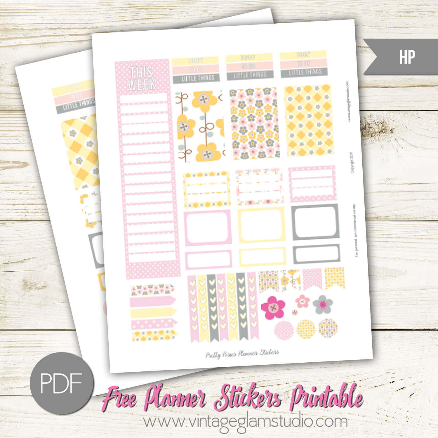 Pretty Posies Planner Stickers Free Printable
