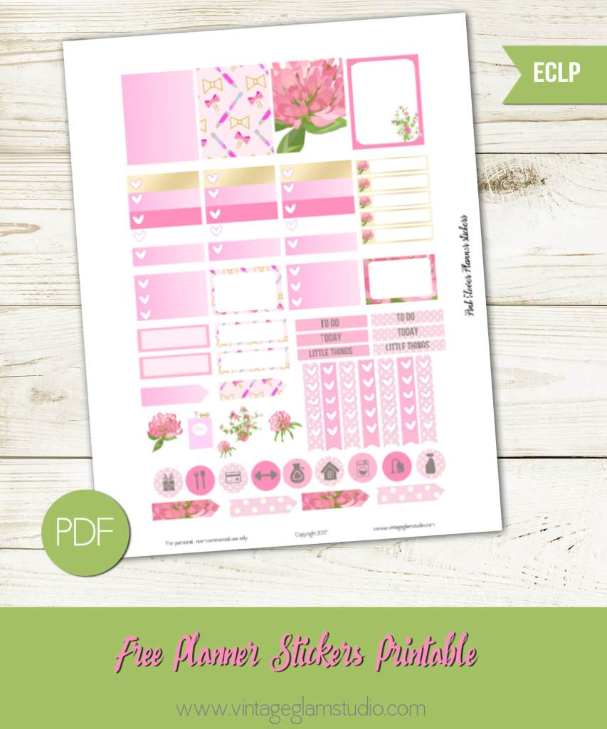 Free Erin Condren planner stickers, for personal use only