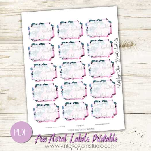 Free label printable preview