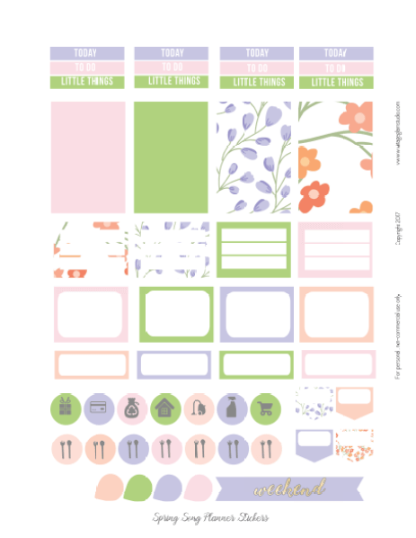 page 2 spring song planner printable