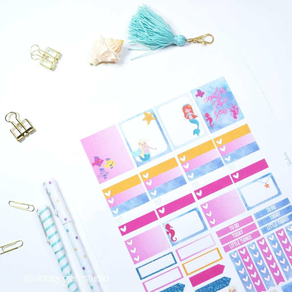free planner printable, sample