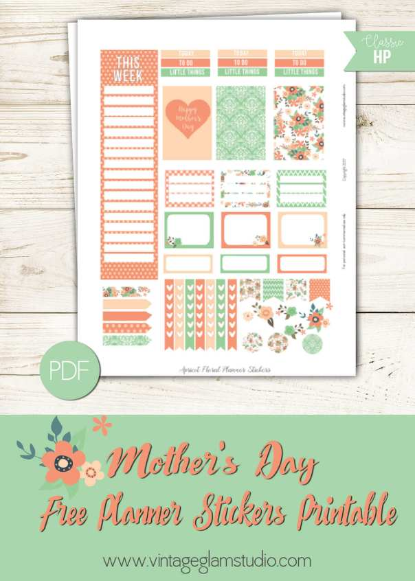 apricot-floral-planner-stickers | free printable