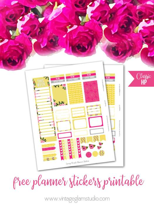 Free happy Planner printable, for personal use only