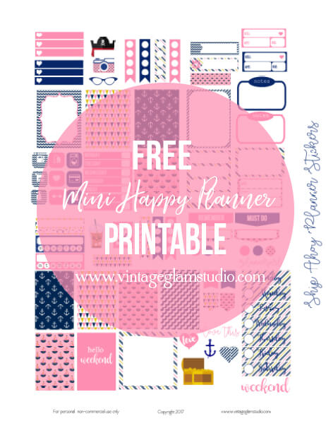 free planner stickers printable
