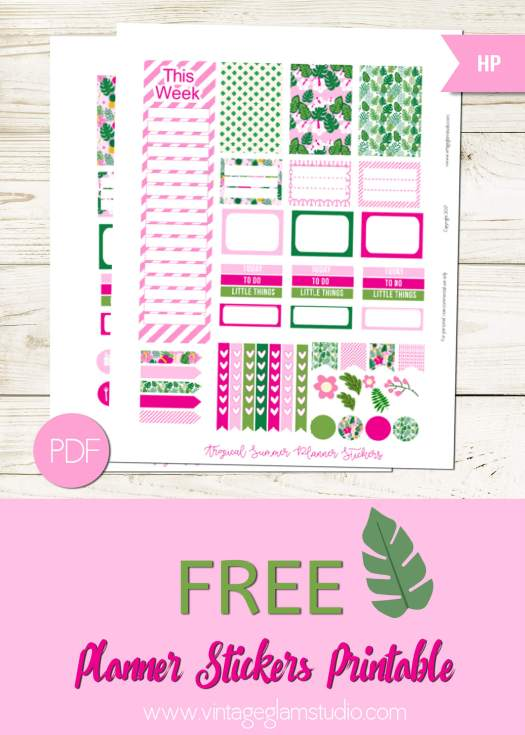 Free Happy Planner planner stickers printable, for personal use only