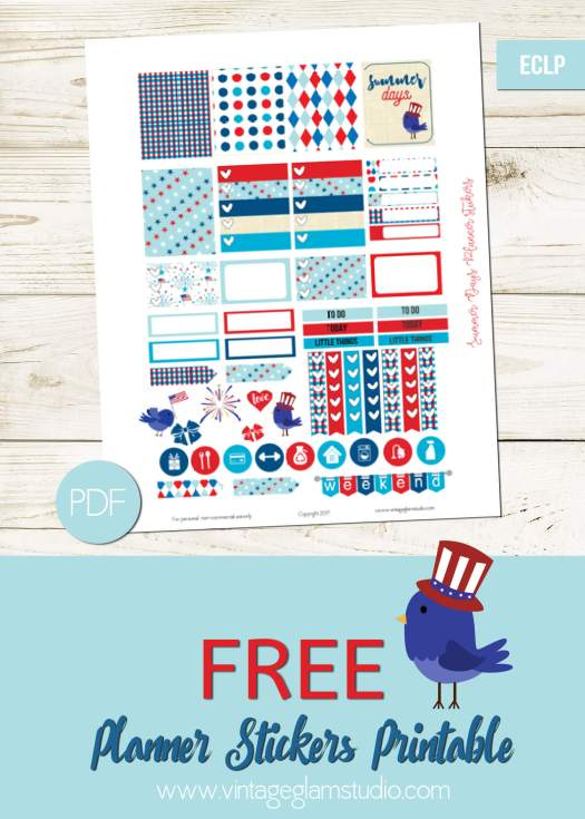 Free Erin Condren planner stickers printable, for personal use only