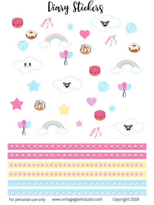 6 x 8 planner stickers preview
