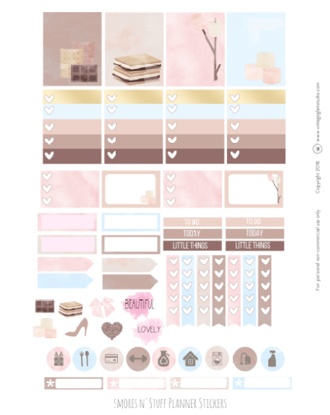 Smores N' Stuff   planner stickers printable