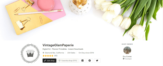 VintageglamPaperie on Etsy