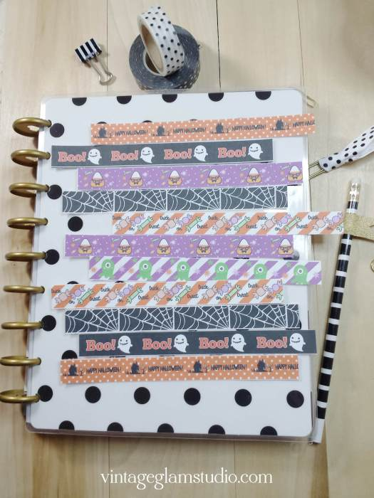 halloween washi planner stickers