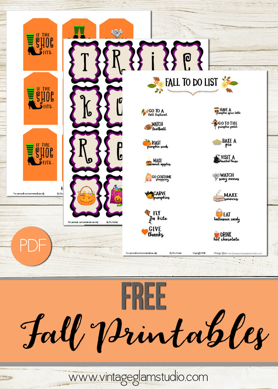 fall printables | free for personal use only