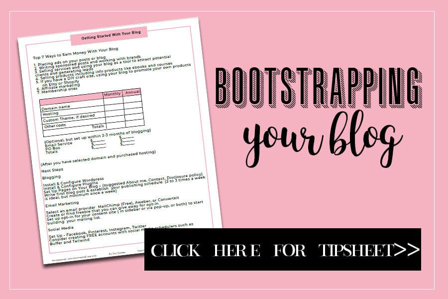 Blog Tipsheet