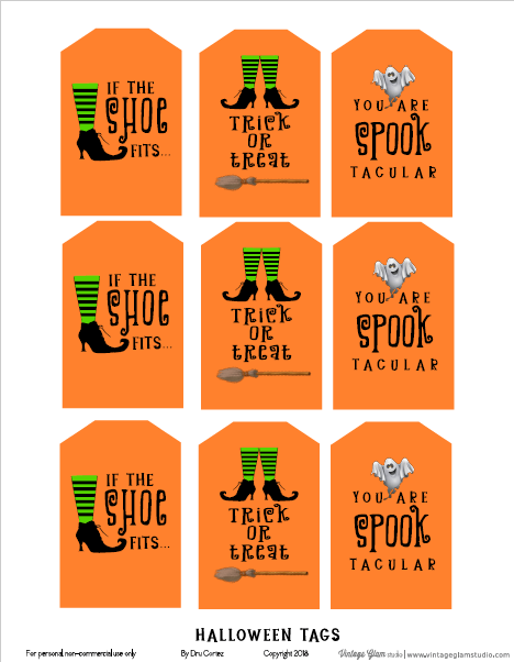 Halloween tags printable
