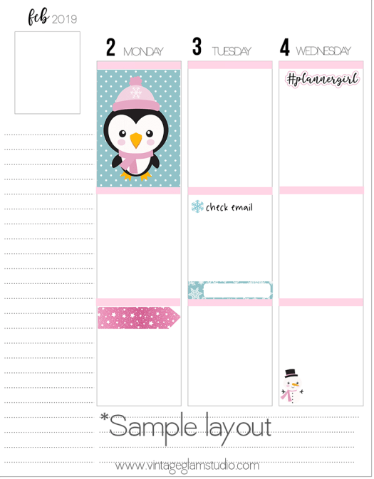 Frosty Friend erin condren layout