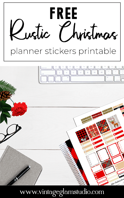 free christmas planner stickers printable