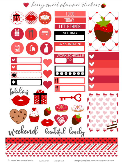 Cricut ready planner stickers printable