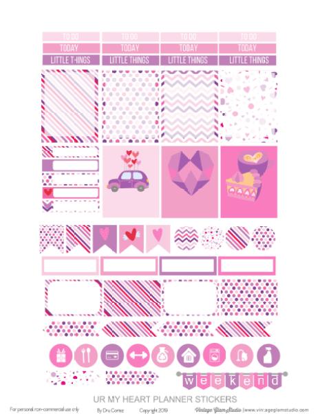 planner stickers printable pge 1