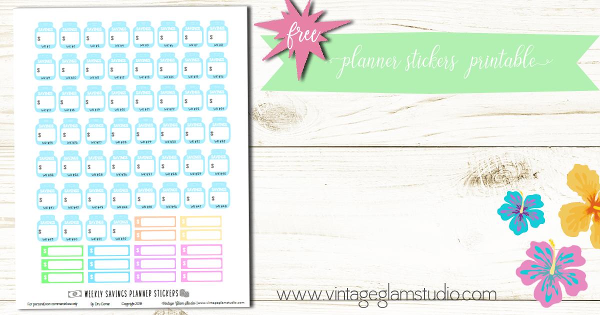 money savings planner stickers header