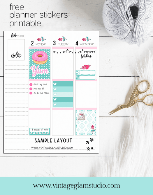teal planner stickers printable, desktop