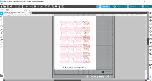 silhouette studio software, tabs cut file