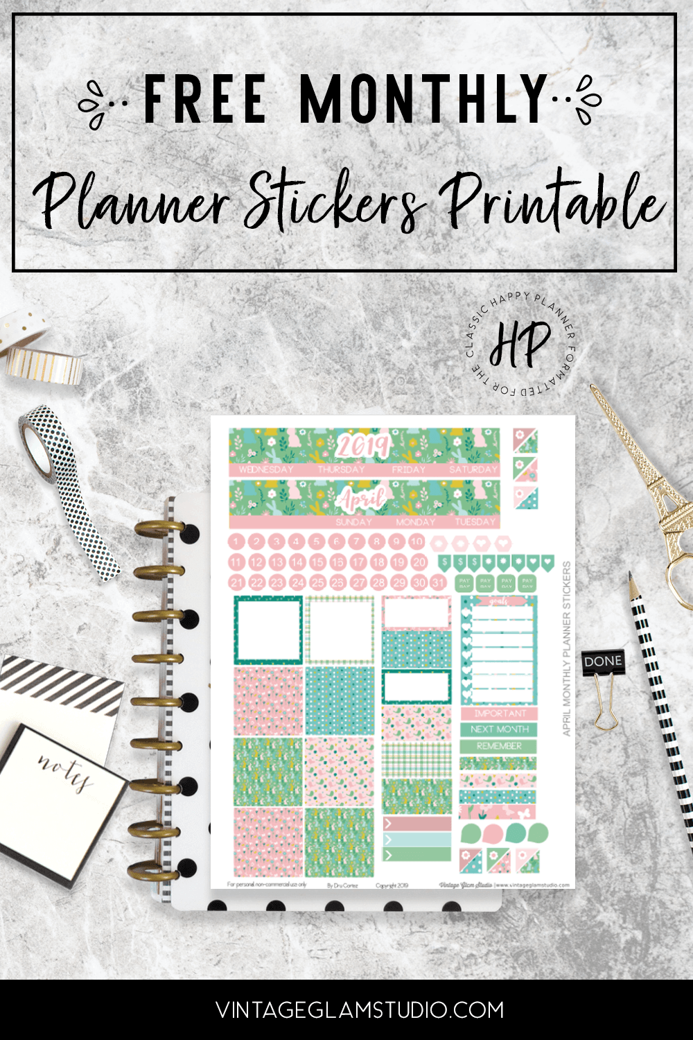 photograph relating to Happy Planner Free Printable Stickers named pleased planner Archives - Common Glam Studio