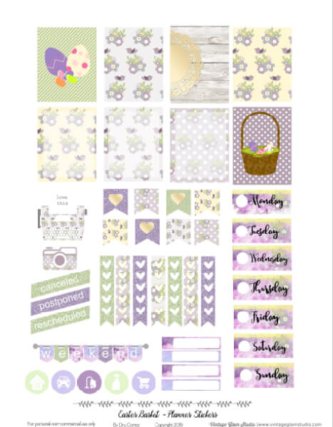 easter planner stickers