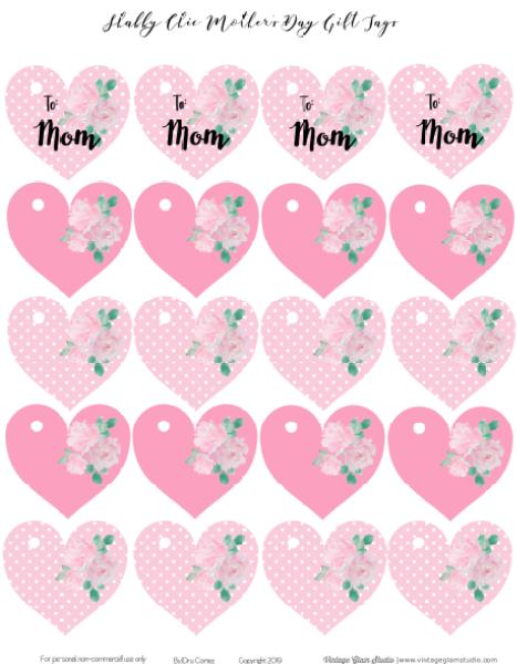 heart gift tags printable