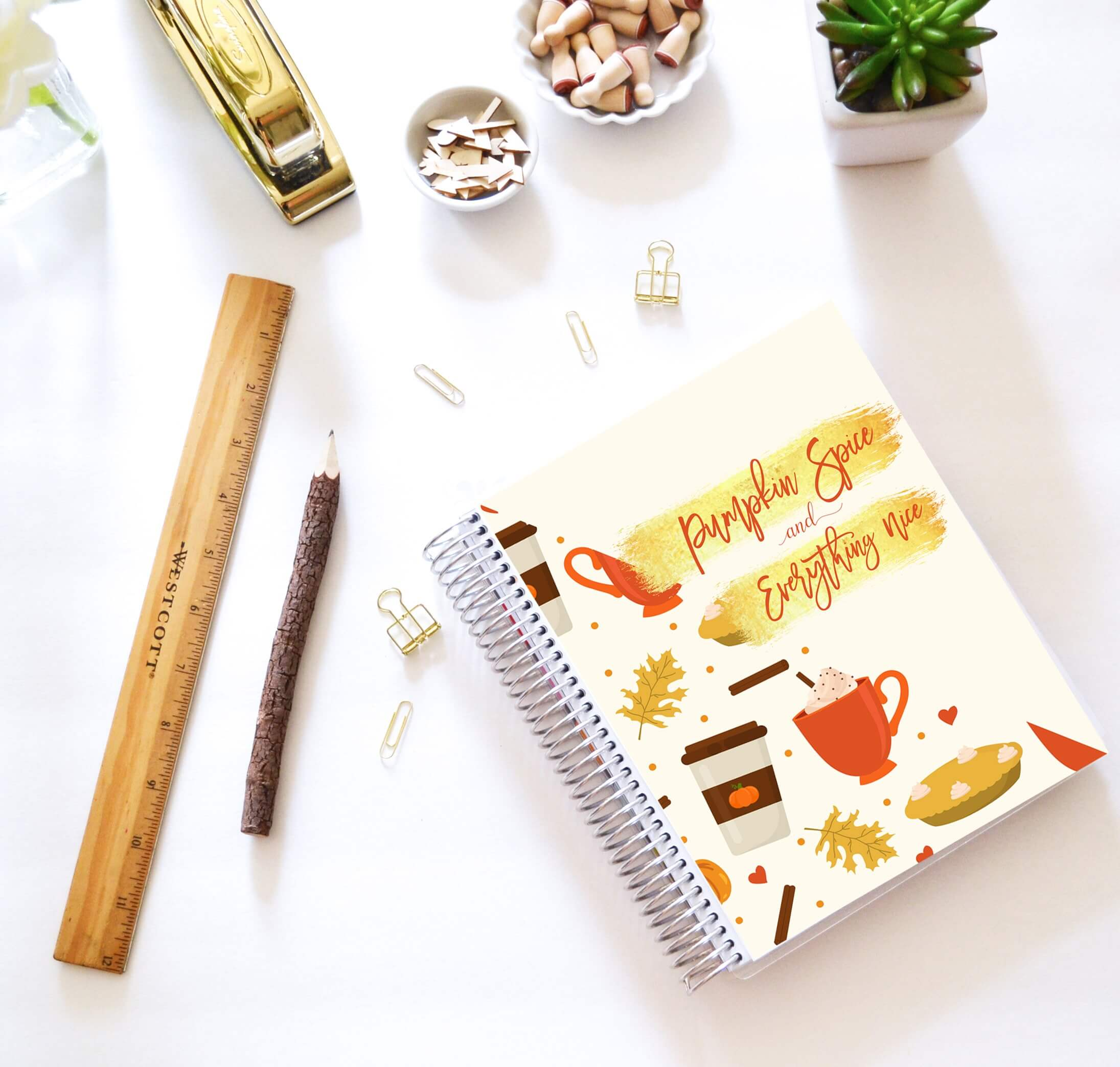 desktop, fall planner