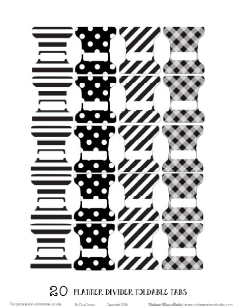 foldable tabs