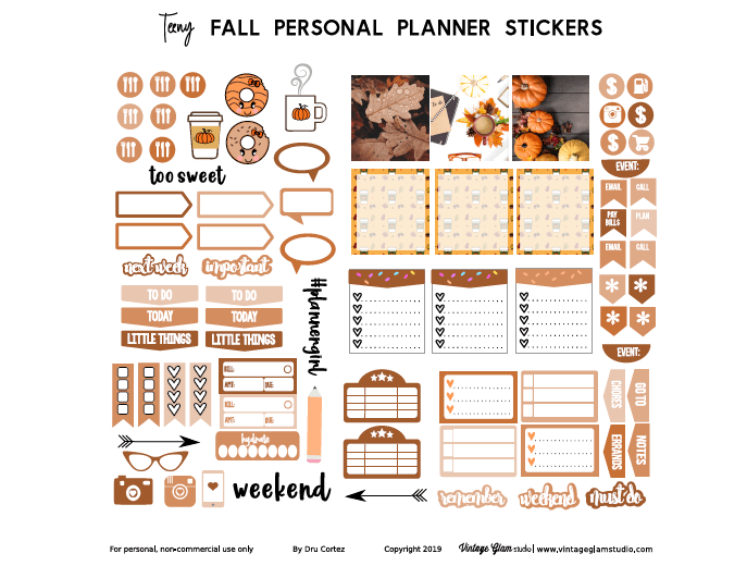 fall personal planner stickers
