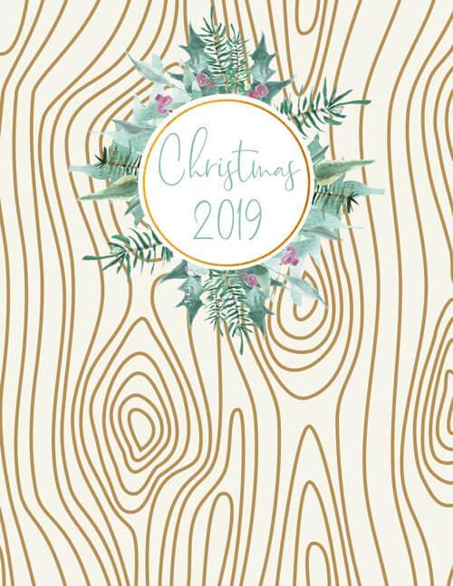 Binder Cover printable, Woodland Christmas