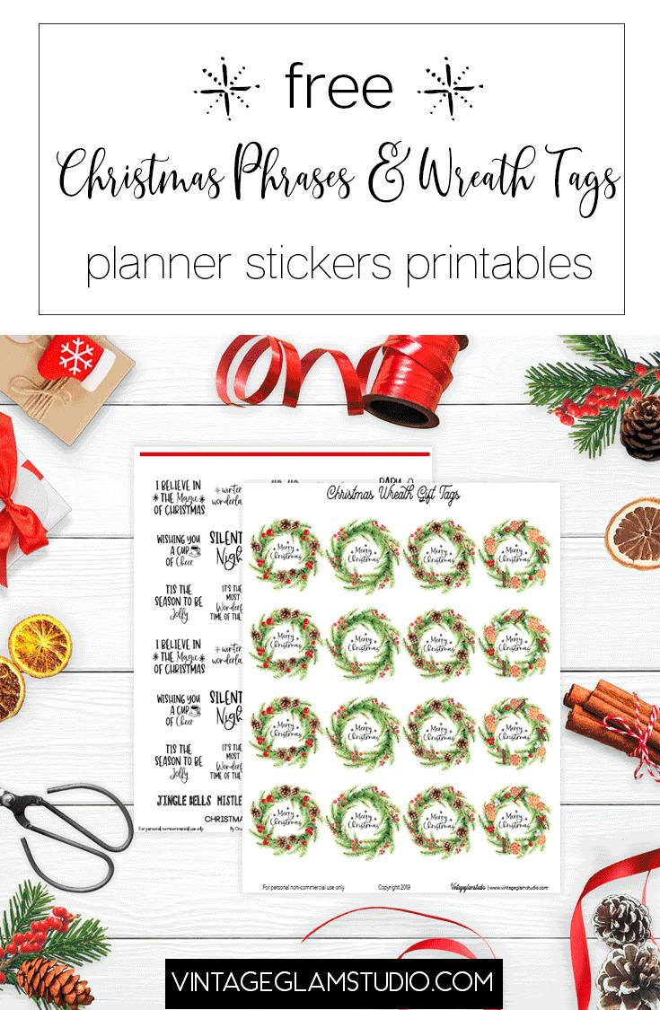 christmas phrases & gift tags