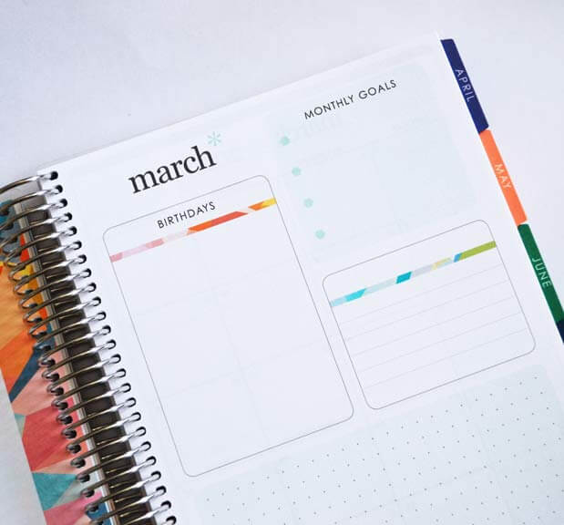 erin condren monthly goals page