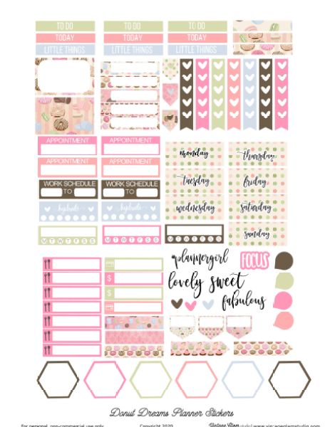 donut planner stickers
